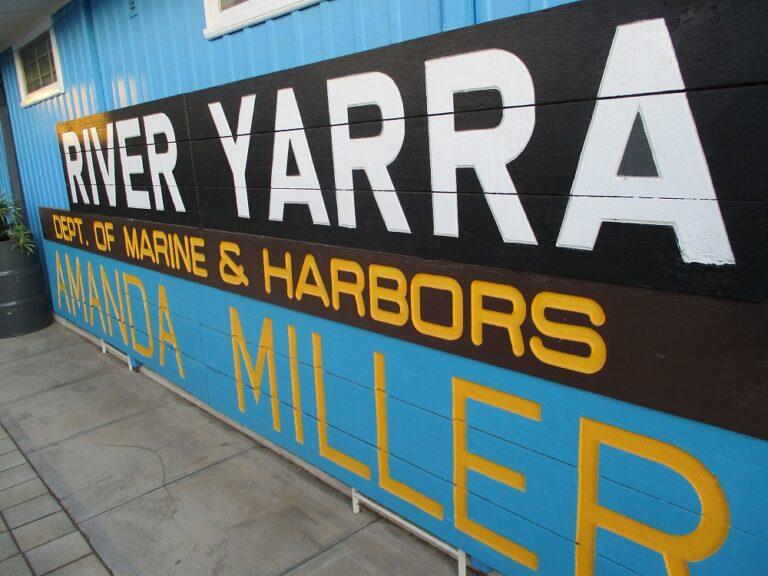 River Yarra Sign Board